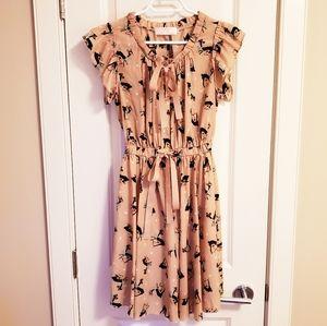 Cute Dress w/ Deer Pattern